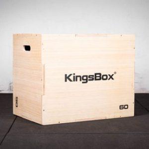 KingsBox Crossfit Plyo Box (Zıplama Kutusu) - Doğal Ahşap